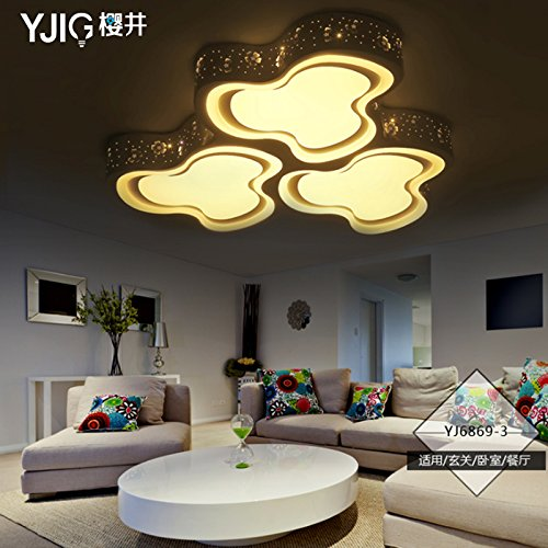 YPOSION The bedrooms led Ceiling lamp warm romantic wedding room minimalist light floral restaurant round the room lighting lamps ,800*800mm Living - 800 Lamp Floral Pendant