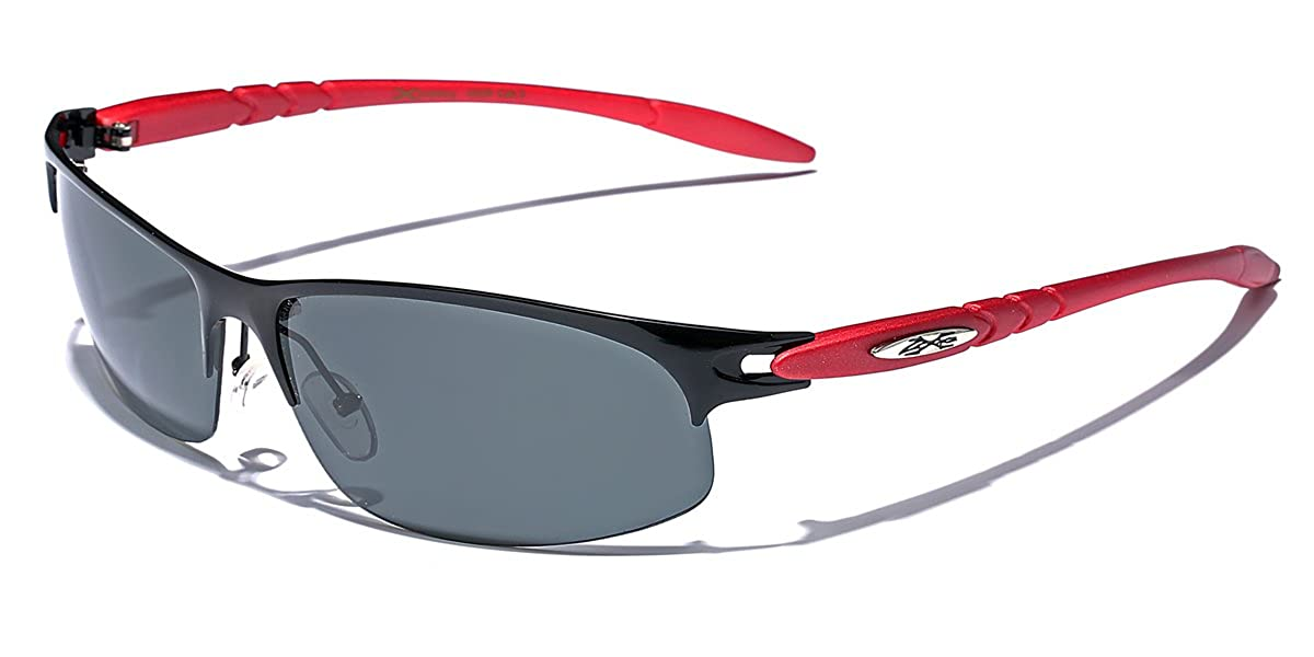 ce0b9a731e9 Amazon.com  Polarized Half Frame Men s Wrap Around Fishing Golf Driving  Sports Sunglasses  Clothing