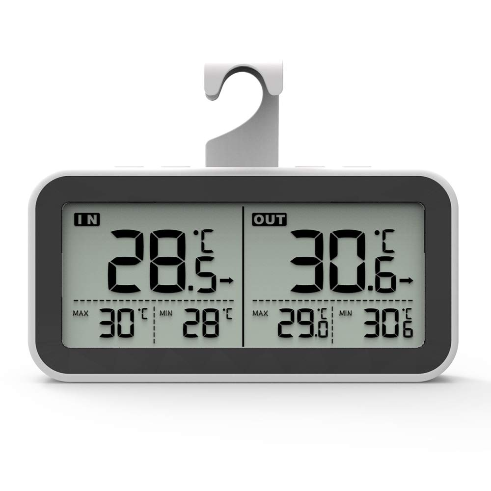 LDJC Wireless Fridge Thermometer,Indoor Outdoor Fridge Temperature Waterproof Electronic Display Remote Monitoring Cold Storage Temperature by LDJC