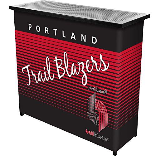 NBA Portland Trail Blazers Portable Bar with Case, One Size, Black