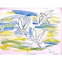 Betsy Drake DM941G Three Gulls Doormat 30 x 50