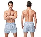 Vanever 3PK Men's Woven Boxers, 100% Cotton Boxer