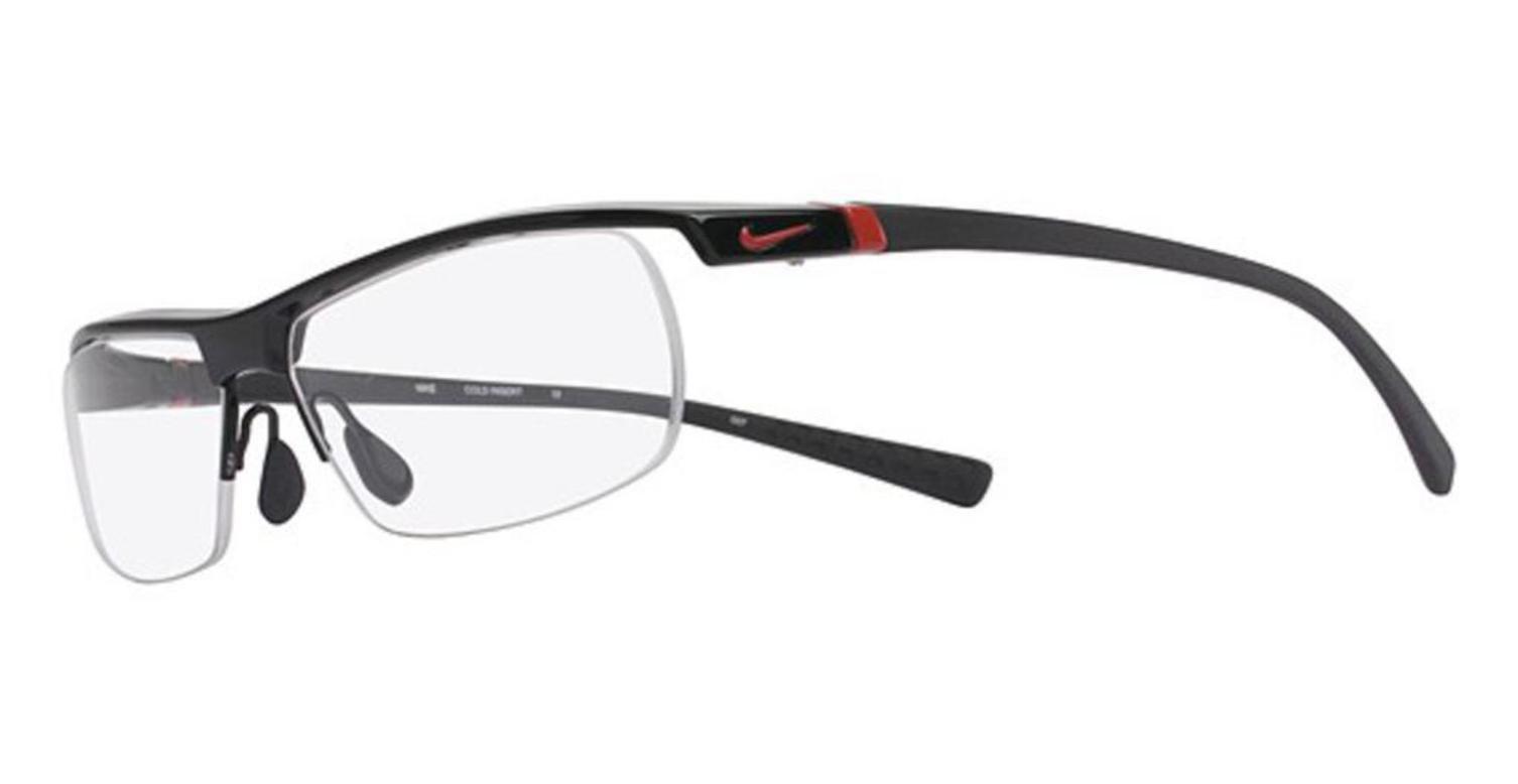 Nike Eyeglasses 7071/2 002 Gloss Black Demo 57 14 135 by NIKE