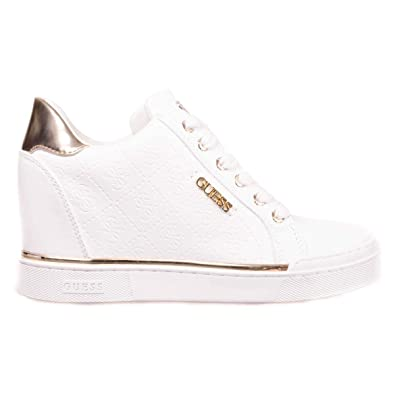 Guess Chaussures Femme Baskets Montantes avec Semelle Interne FL5FWUFAL12  Taille 35 Blanc af9fab073169