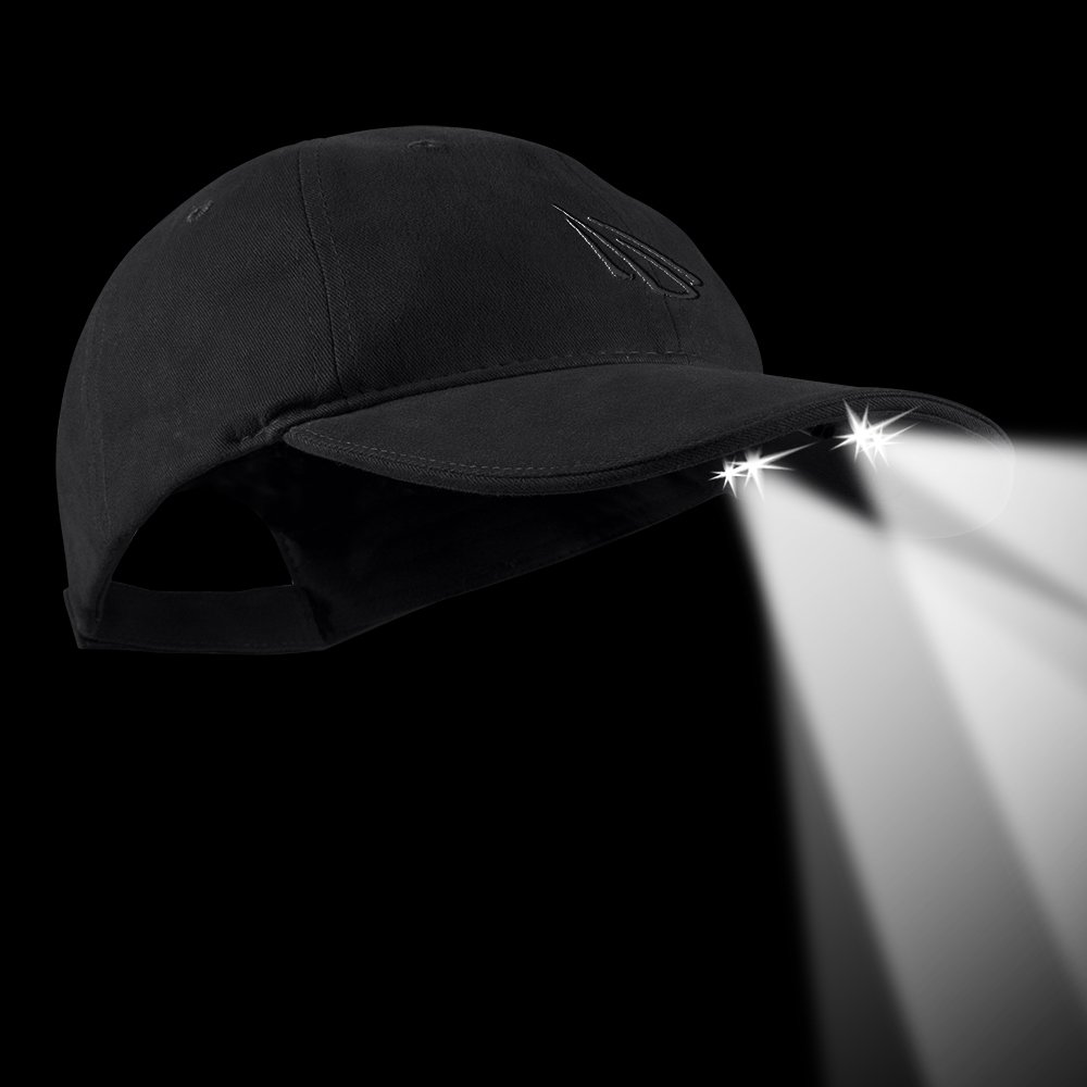 POWERCAP LED Hat 25//10 Ultra-Bright Hands Free Lighted Battery Powered Headlamp