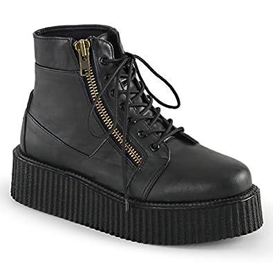 Demonia Mens V-CREEPER-571 Boots, Blk Vegan Leather, Size - 10