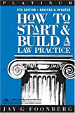 How to Start and Build a Law Practice, Jay G. Foonberg, 1590312473