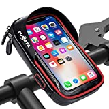 TURATA Handlebar Bike Bag Waterproof Bike Pouch Road Bag Cell Phone Holder Case Front Tube Phone Mount Bag with Sensitive Touch Screen