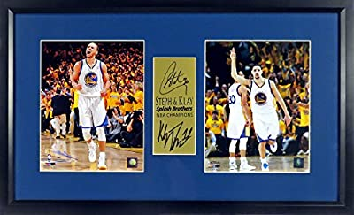 "GS Warriors Steph/Klay ""Splash Brothers"" Home White Champions Display (SGA Signature Series) Framed"