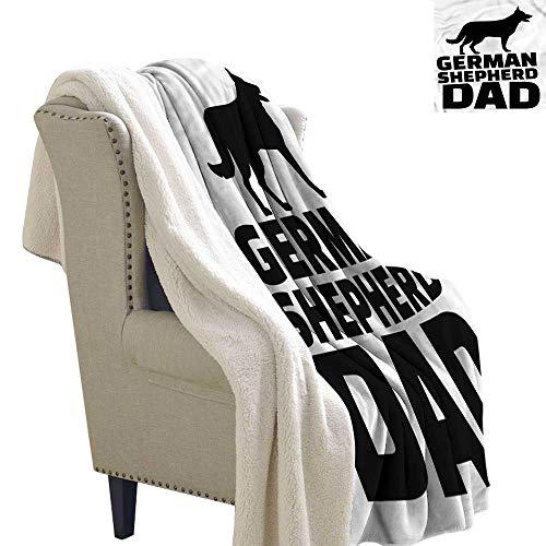 Shepherd Fleece Sweatshirt - Zodel Baby Blanket German Shepherd Alsatian Dog Dad Washable Shaggy Fleece Blanket W59 x L31