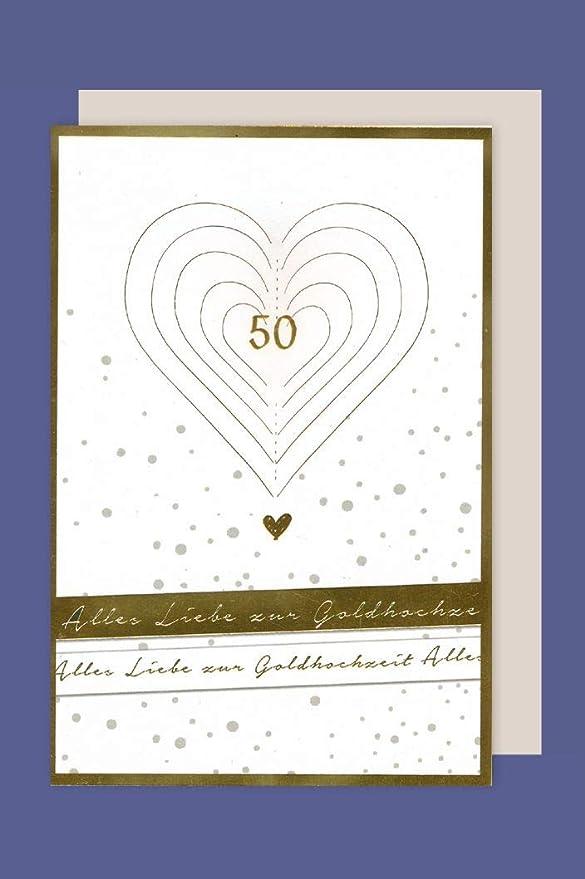 Avan Carte GmbH Tarjeta de Bodas de Oro 50 Tarjeta de felicitación ...