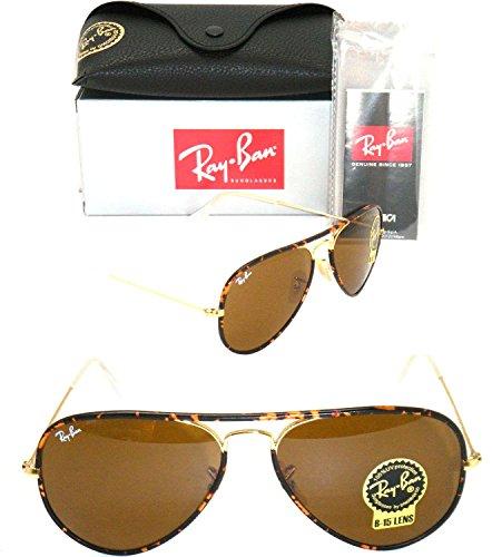 Ray Ban Aviator 3025jm Rb 3025jm 001 58mm Havana Frame / Brown B-15 Lenses - Full Black Ban Aviator Ray