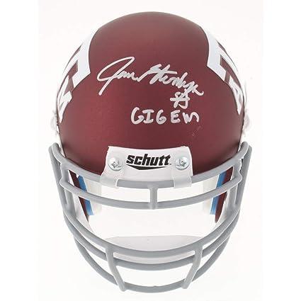 4720bf2947b Amazon.com  Jace Sternberger Signed Autographed Texas A M Custom Matte  Maroon Mini-Helmet Inscribed