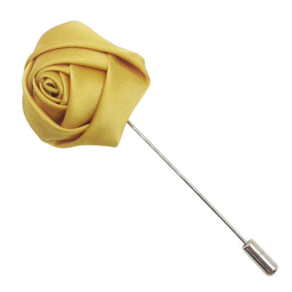 Interesting® ramillete de flores de seda de color rosa en el ojal de la solapa de la boda del palillo de la broche del Pin de los novios