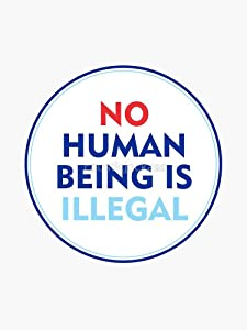 No Human Being Is Illegal Vinyl Decal Bumper Sticker Wall Laptop Window Sticker 5""