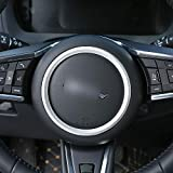 ABS Chrome Steering Wheel Decoration Ring Trim For Jaguar F-PACE/XE/XF/XFL Car Accessories