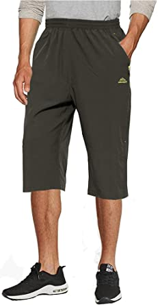 87f6ae32b91691 TACVASEN Casual Shorts Herren 3/4 Shorts Herren Outdoor Mountain Shorts  Sommer Wandern Freizeit Shorts