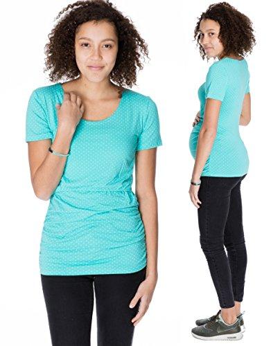 GoFuture maternity clothes shirt woman Maternity wear 3in1 CARA KS2002 (Mint , Size 10 UK)