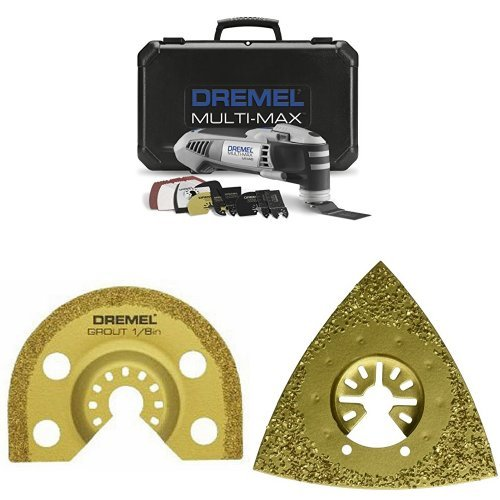 Dremel MM40-05 Oscillating Tool with 1/8-Inch Carbide Grout Blade and Carbide Rasp 24-Grit for Grinding by Dremel