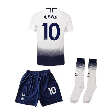 ab323c81a UXGNIGHK Kane #10 Home Tottenham Hotspur 2018-2019 Kids/Youth Soccer Jersey  &