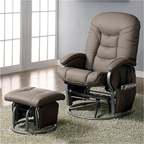 coaster-deluxe-swivel-glider-and-ottoman-in-beige-leatherette