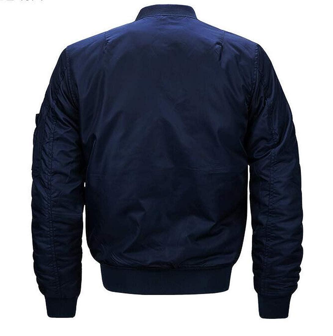 Joe Wenko Men Loose Fit Baseball Stand Collar Plus Size Padded Parkas Jacket