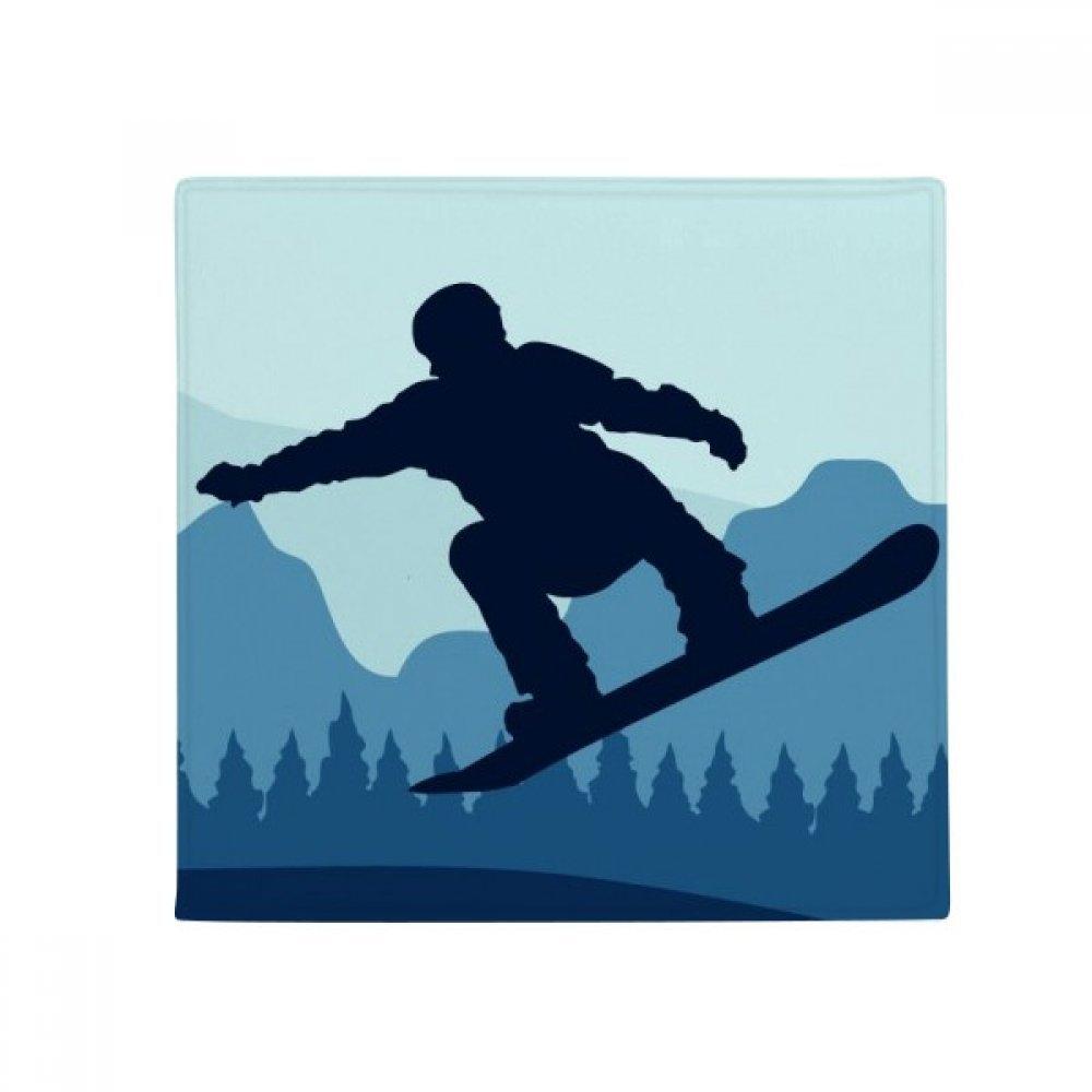 DIYthinker Winter Sport Pattern Ski Suit and Boots Anti-Slip Floor Pet Mat Square Home Kitchen Door 80Cm Gift