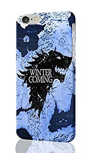 "SUUER Game of Thrones winter is coming iPhone 6 -4.7 inches 3D Case , Designer Personalized Custom Plastic Hard CASE for iPhone 6 (4.7"") Durable New Style Rough Skin 3D Case Cover"