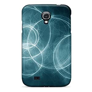 Galaxy S4 Case Cover - Slim Fit Tpu Protector Shock Absorbent Case (the Ring Circles)