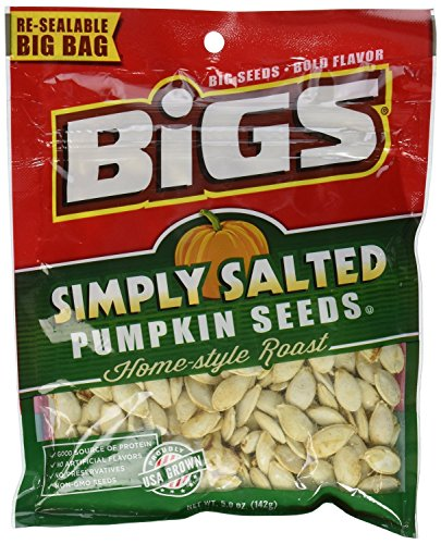 Bigs, Pumpkin Seeds, Home-Style Roast, Lightly Salted, 5oz Bag (Pack of 4)