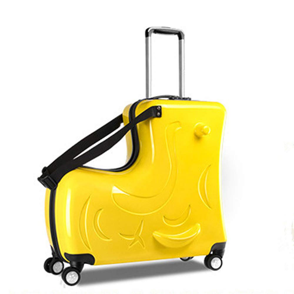 The Latest Unisex Travel Tots Kids Trunk, Children Seat Suitcase(Yellow, 24inch) by wangbaochang2017
