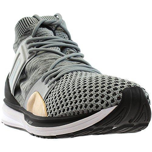 Puma Mens B.O.G. Limitless Hi Evoknit Grey & White Shoes