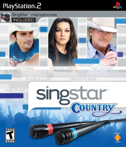 SingStar Country with microphone - PlayStation - Singstar Playstation 2 Bundle