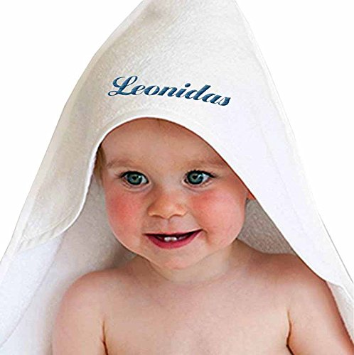 leonidas-boy-personalized-embroidered-cotton-white-baby-bath-hooded-towel