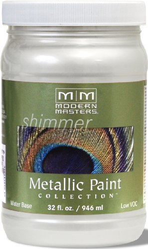 Metallic White Paint (Modern Masters ME196-32 Metallic Pearl White, 32-Ounce)