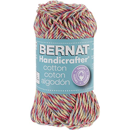 Bernat Handicrafter Cotton Twists Yarn - (4) Medium Gauge 100% Cotton - 1.5gr - Cottage - Machine Wash & Dry