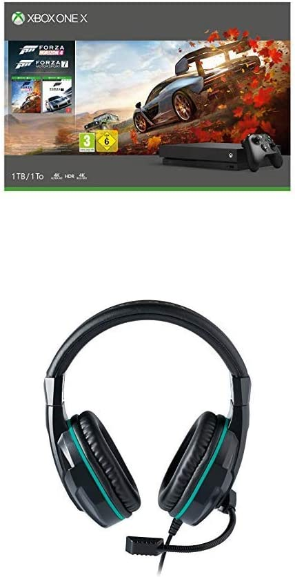 Xbox One X - Consola 1 TB, Forza Horizon 4 y Forza Motorsport 7 + Auriculares Nacon PCGH-110ST con micrófono: Amazon.es: Videojuegos