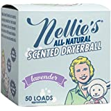 Nellie's All-Natural Scented Wool Dryerball - Lavender Scented - Made with 100% Pure New Zealand Wool and Lasts Approximately 50 Drying Loads - Silent in your Dryer!