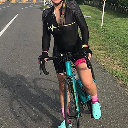 Women's Triathlon met lange mouwen fietsen sportkleding pak $1456 (Color : Kafitt20 128, Size : L)