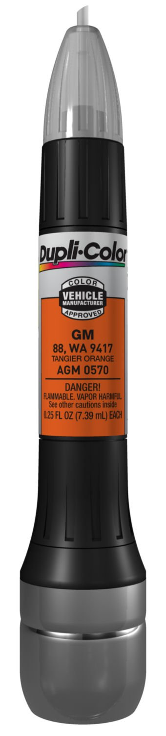Dupli-Color AGM0570 Tangier Orange General Motors Exact-Match Scratch Fix All-in-1 Touch-Up Paint - 0.5 oz.