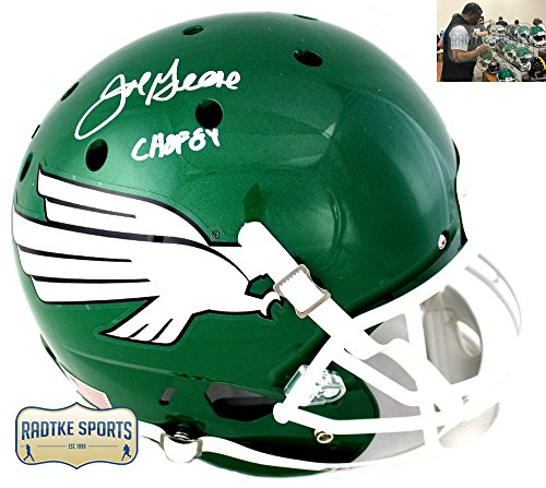 Joe Greene Autographed/Signed North Texas Mean Green NCAA Full Size Helmet With