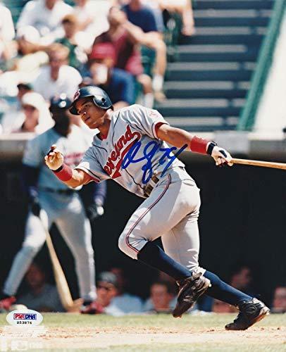 Manny Ramirez Cleveland Indians Autographed Signed 8x10 Photo With Psa Coa