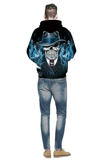 LYJLYJ El Sr. Cráneo De Impresión 3D Hoodie Punk Mujeres/Hombres Sudadera Puente Ropa Casual Deportes Béisbol Suéter: Amazon.es: Deportes y aire libre