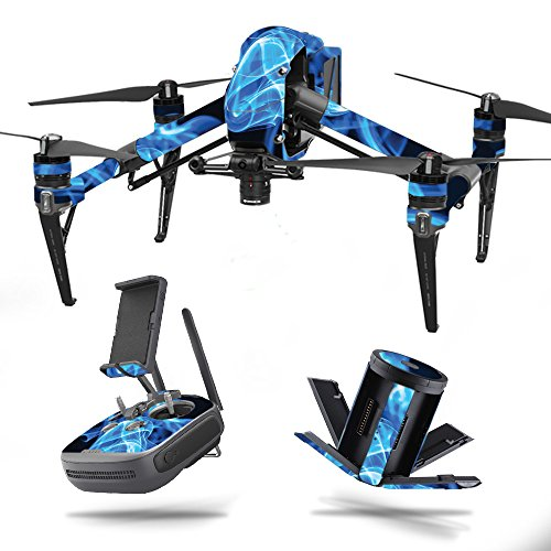 MightySkins Skin for DJI Mavic Pro Battery - Blue Mystic Flames | Protective, Durable, and Unique Vinyl Decal wrap Cover | Easy to Apply, Remove, and Change Styles | Made in The USA
