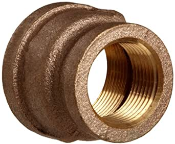 """Lead Free Brass Pipe Fitting, Reducing Coupling, Class 125, 3/8"""" X 1/4"""" NPT Female"""