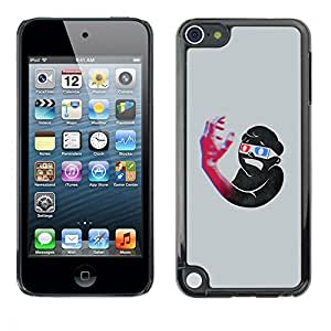 Diy Yourself GagaDesign / Hard Skin case cover Pouch - 3D Art flla9lOvOO2 Boy Hand Glasses Blue Red Structure - Apple iPod Touch 5