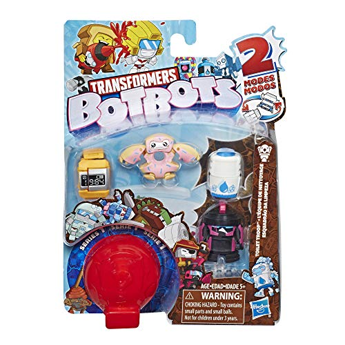 (Transformers BotBots Toys Series 1 Toilet Troop 5-Pack -- Mystery 2-in-1 Collectible)