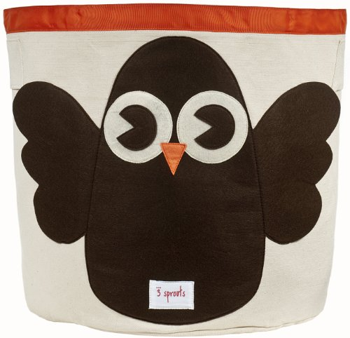3 Sprouts Storage Bin, Owl,