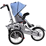 Bike Mother Baby Stroller Baby Folding 16inch Carrier with Suncover and Shopping Bag