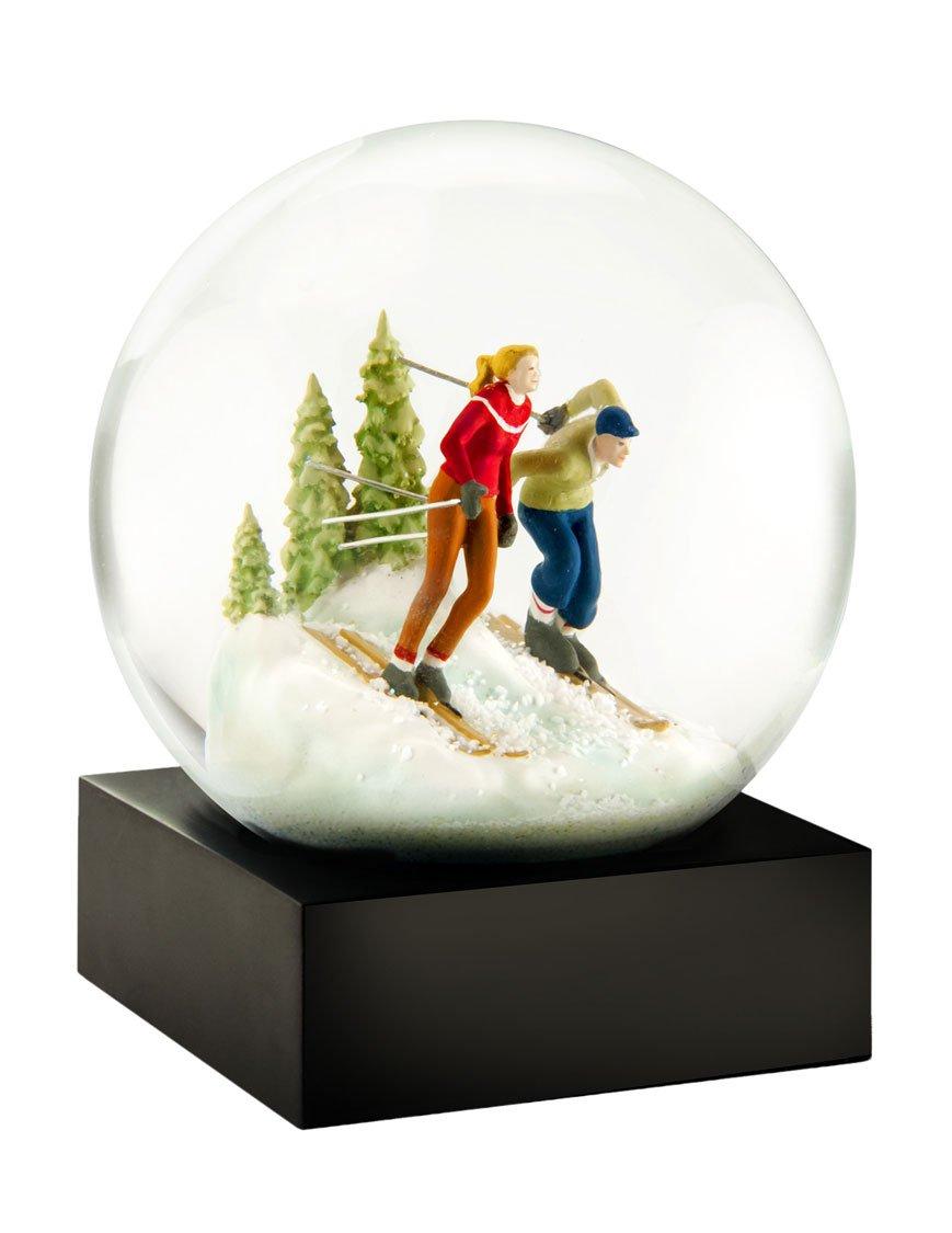 Skiers Snow Globe